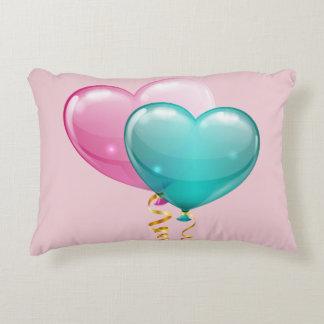 Heart Balloons Grade A Cotton Accent Pillows