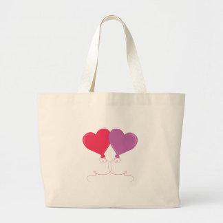 Heart Balloons Large Tote Bag