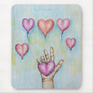 Heart Balloons Mouse Pad
