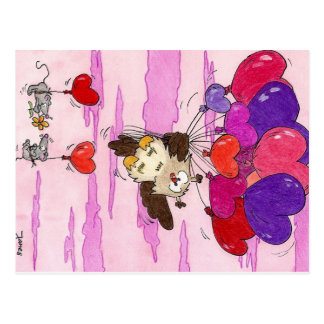 HEART BALLOONS postcard by Nicole Janes