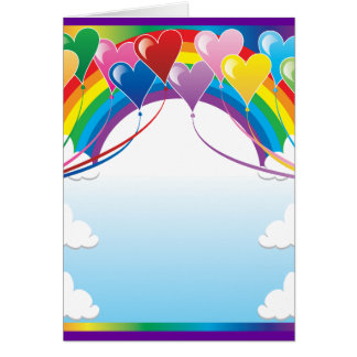Heart Baloon Background Card