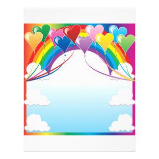 Heart Baloon Background Flyer