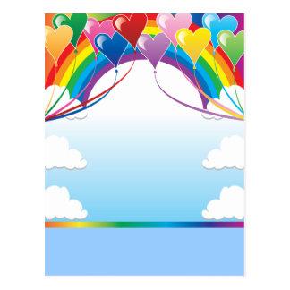 Heart Baloon Background Postcard
