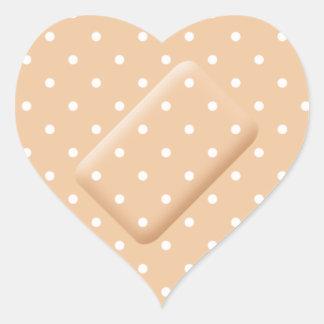 Heart Bandage Cute Polkadot Nurse Medical Get Well Heart Sticker