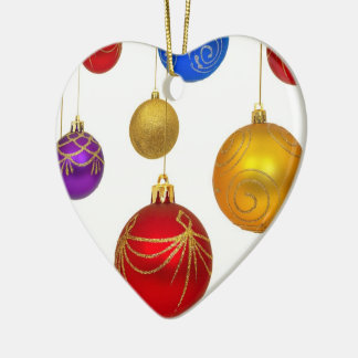 Heart Bauble Hanging Tree Christmas Decoration Ceramic Ornament