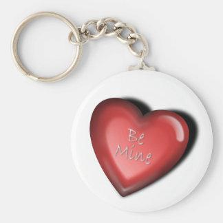 heart be mine keychain