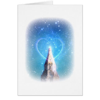 Heart Beam Note Card