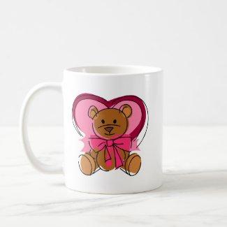 Heart Bear mug