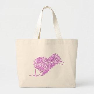Heart_Beat Canvas Bags