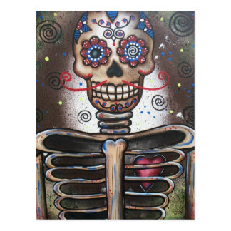 Heart Beat_ By Lori Everett_ Day Of The Dead Postcard