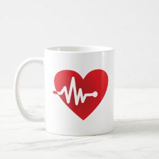 Heart-Beat Classic White Coffee Mug