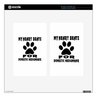 Heart Beat For DOMESTIC MEDIUMHAIR Skins For Kindle Fire