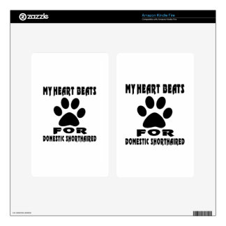 Heart Beat For DOMESTIC SHORTHAIRED Kindle Fire Decals