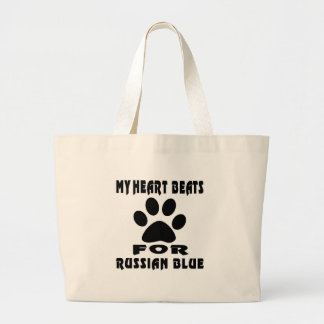 Heart Beat For RUSSIAN BLUE Jumbo Tote Bag