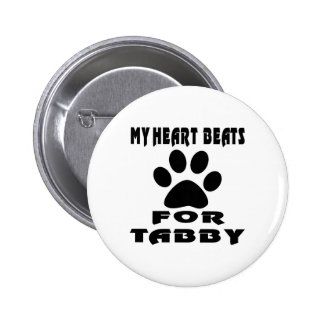 Heart Beat For TABBY 2 Inch Round Button