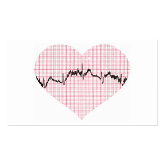 Heart Beat III Business Card Template