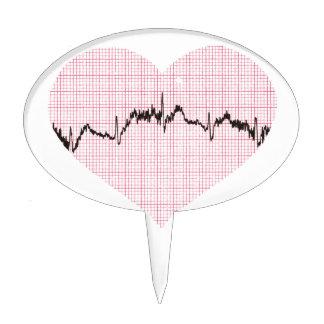 Heart Beat III Cake Topper