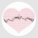Heart Beat III Classic Round Sticker