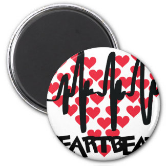 heart beat love hearts 2 inch round magnet