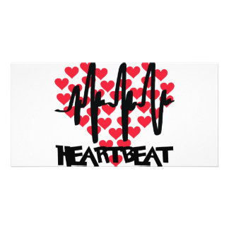 heart beat love hearts card