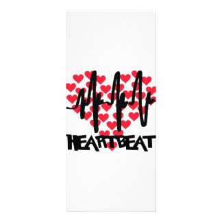 heart beat love hearts custom rack cards