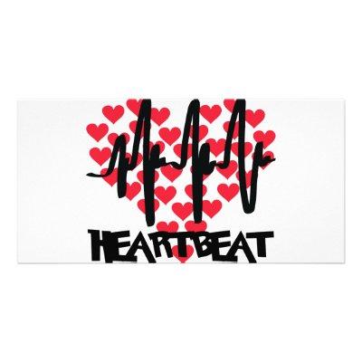 heart beat love hearts photo greeting card by Tomaniac