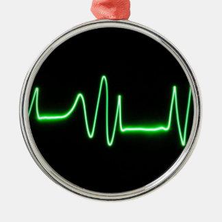 Heart Beat Metal Ornament