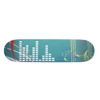 heart beat of music vector illustration skateboard deck