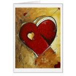 """Heart Beat"" - Original MADART Design Greeting Card"