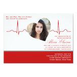 Heart Beat Photo Announcement/Invitation