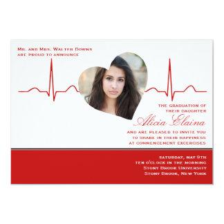Heart Beat Photo Announcement/Invitation 5x7 Paper Invitation Card