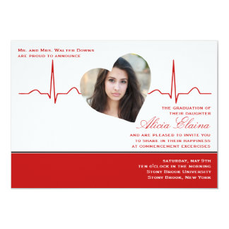Heart Beat Photo Announcement/Invitation Card