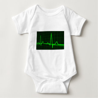 Heart Beat Pulse Trace Baby Bodysuit