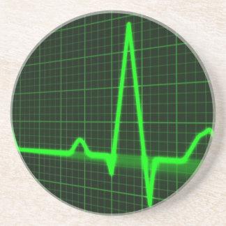 Heart Beat Pulse Trace Drink Coaster