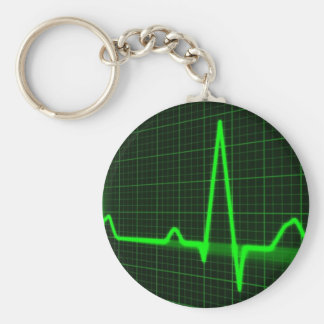 Heart Beat Pulse Trace Keychains