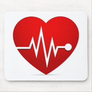 Heart Beat Rate Mouse Pad