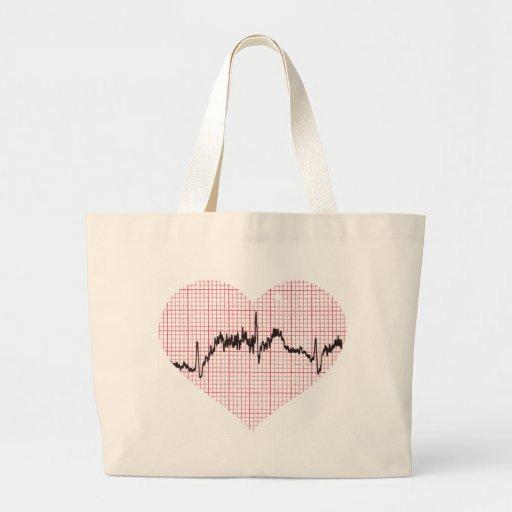 Heart Beat VII Jumbo Tote Bag