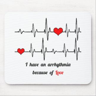 Heart beats arrhythmia mouse pad