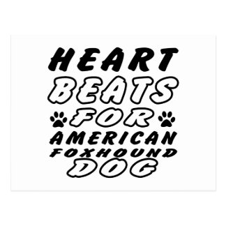 Heart Beats For American foxhound. Postcard