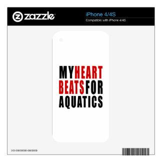 HEART BEATS FOR AQUATICS iPhone 4 SKINS