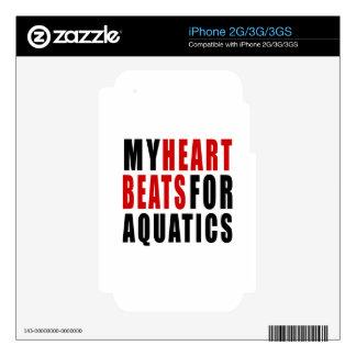 HEART BEATS FOR AQUATICS iPhone 3GS DECALS