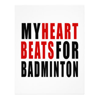HEART BEATS FOR BADMINTON LETTERHEAD