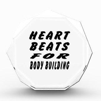 Heart Beats For Body Building Acrylic Award
