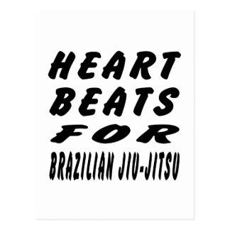 Heart Beats For Brazilian Jiu-Jitsu Post Card