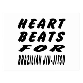 Heart Beats For Brazilian Jiu-Jitsu Post Cards