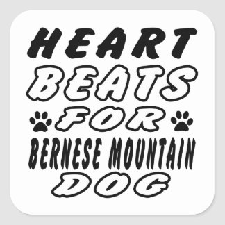 Heart Beats For Burnese Mountain Square Sticker