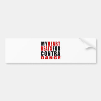 HEART BEATS FOR CONTRA DANCING CAR BUMPER STICKER