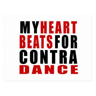HEART BEATS FOR CONTRA DANCING POSTCARD