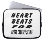 Heart Beats For Cross Country Skiing Laptop Sleeves