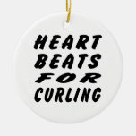 Heart Beats For Curling Ornament